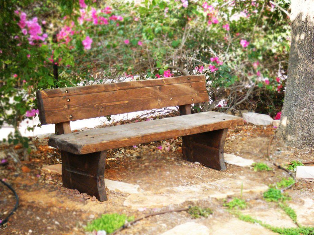 ספסל גושני מעובד טבעי דגם יערה